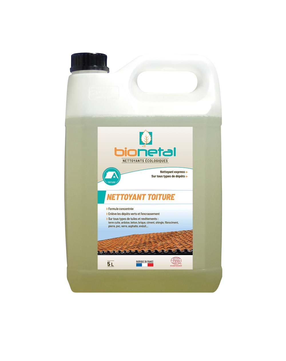 Démoussant Nettoyant de toitures Bionetal Certifié Ecocert - Anti-mousse bio concentré ...